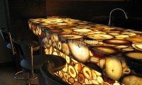 Luxury translucent semi precious tone bar top