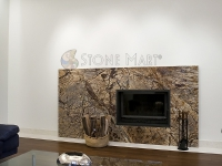 Brown Marble Fireplace Surround Design