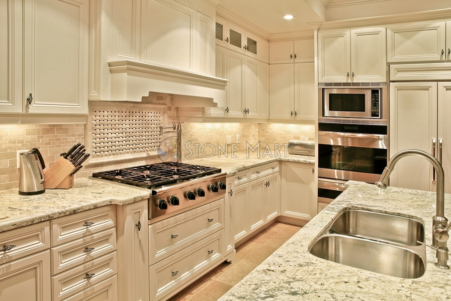 Kitchen countertops in north hollywood ca kitchen for White kitchen cabinets with white marble countertops