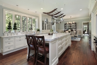 Luxury Kitchen with White Marble Countertops