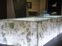 White Quartz Semi Precious bath tub