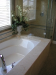 Beige Marble Tub Surround