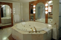 White Marble Tub Surround