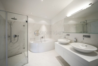 Modern Bathroom with White Marble
