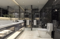 Bathroom with Nero Marquina Marble